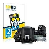 BROTECT 2X Entspiegelungs-Schutzfolie kompatibel mit Canon EOS 6D (Schulterdisplay) Bildschirmschutz-Folie Matt, Anti-Reflex, Anti-Fingerprint