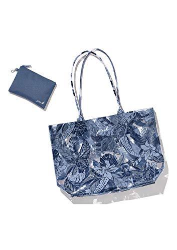 Victoria Secret COSMETIC BAG TOTE BAG. - BIKINI SUN BEACH BAG CITY BEACH TOTE - FERN PRINT ACCENTED