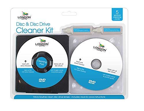 London Empire  CD DVD Disc Drive Cleaner Cleaning Set Fluid Laser Lens Laptop...