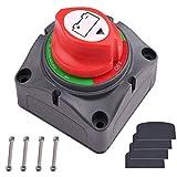 Spurtar 1-2-Both-OFF Interruptor de Batería, 12V-60V DC, Interruptor de Desconexión de Batería para Coche RV ATV UTV etc