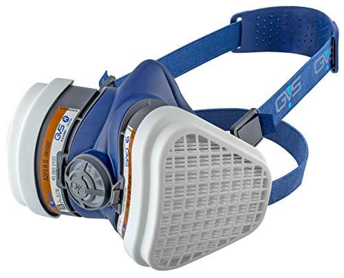 GVS SPR495 Elipse Maske mit A2P3 Filter gegen organische Gase und Dämpfe bis 5000 ppm und Staub, S/M