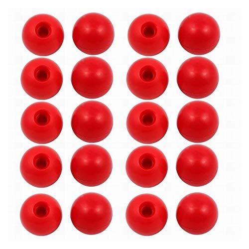 LJZX Gewindegriff 5~50 stücke Schraube 6mm Kugelgriff Durchmesser 25mm ~ 30mm Hebelknopfmaschine Werkzeug Ersatz Bakelitmaterial Kugelförmige Griffe Sicherheitsmaterial (Color : 30mm x20PCS Red)