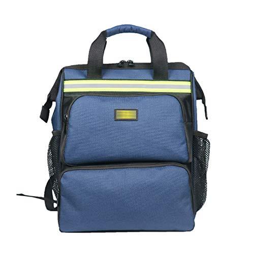 Qiming Portable Tool Bag Mochila portátil Bolsa Multifuncional Herramienta portátil Bolsa de Almacenamiento Bolsa de Herramientas Multiuso Hardware Kit (Color : Blue, Size : 30 * 18 * 40cm)