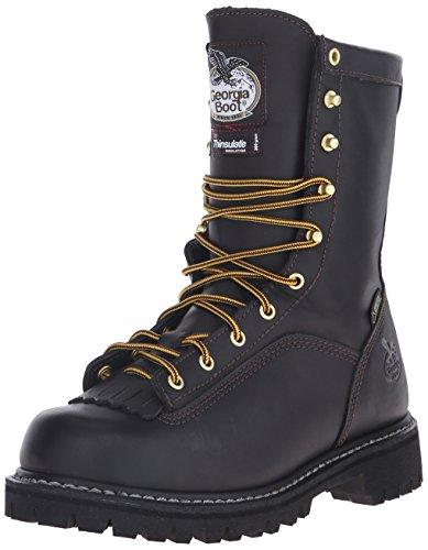 Georgia G8040 Mid Calf Boot, Black, 9.5 M US