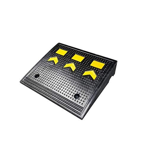 11 cm hoch Rampen for Autos, Schwarz Rampen mit gelben Warn Mustern, Curb Ramps for Station, Treppen, Garage, Rollstühle Pet Rampen (Color : Black+Yellow, Size : 50 * 43 * 11CM)