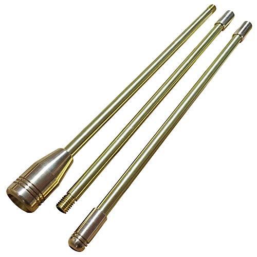 【野良道具製作所】 ALL真鍮製火吹き棒 「野良ブラスター」 【ロングver.】 3本継90cm ゴールド