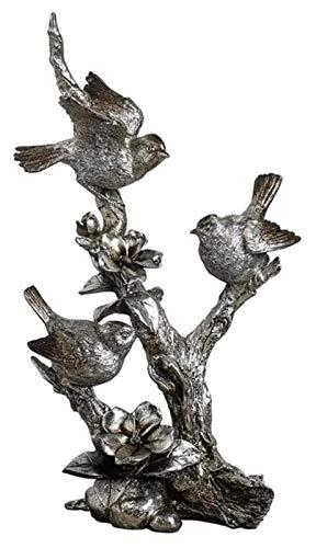 WQQLQX Statue Vintage Blume Baum und Vogel Skulptur Handwerk Maskottchen Figuren wie Dekoration Zubehör Wohnzimmer Dekoration Hochzeit Geschenke Souvenirs Skulpturen