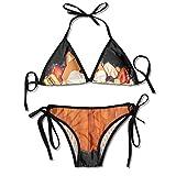 Hbuile Ka-Wa-Ii Sh-Iba I-Nu Women Swimsuit Fully Lined Bathing Suit High Cut Bikini Set