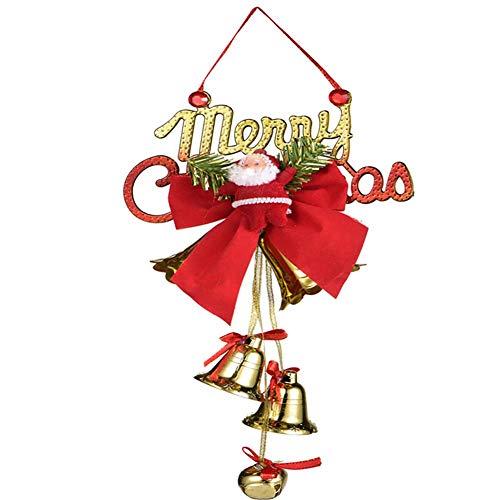Haucy Campana decorativa para árbol de Navidad, colgante de Papá Noel, para árbol de Navidad, fiesta, decoración de boda, 12 x 22 cm