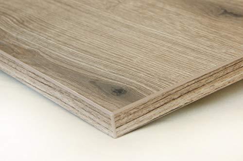 Schreibtischplatte 140x80 aus Holz DIY Schreibtisch direkt vom Hersteller vielseitig einsetzbar - Tischplatte Arbeitsplatte Werkbankplatte mit 125kg Belastbarkeit & Kratzfestigkeit - Alteiche