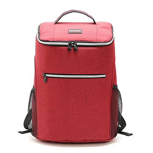 LNSGA 20L 600D Oxford Big Big Cooler Bag Thermo Almuerzo Caja de Picnic aislada Mochila Fresca Paquete de Hielo Carrier Fresco Bolsos de Hombro térmicos (Color : Red)