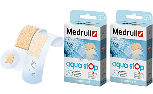 Medrull Wasserfeste Steril Pflaster AQUA STOP Transparente 2 x 20 Stück