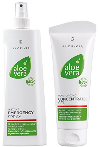 LR ALOE VIA Aloe Vera Intensiv-Pflege-Set (150 ml Emergency Hautspray & 100 ml Konzentrat)