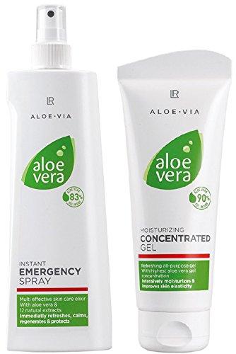 LR Aloe via Aloe Vera Intense Set d'entretien (150ml Emergency Peau Spray & 100ml concentré)