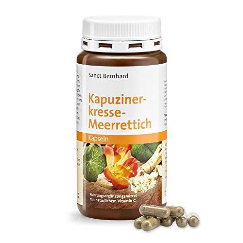 Sanct Bernhard Kapuzinerkresse-Meerrettich-Kapseln mit Senfölen und natürlichem Vitamin C aus der Acerolakirsche, Inhalt 180 Stück