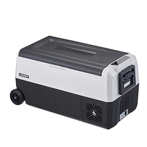 MAGIRA Arctic 36 Liter Kompressor-Kühlbox Zwei Zonen 12V und 230V DF36-C elektrischer Mini-Kühlschrank für Camping, Auto oder LKW mit Steckdose und USB-Anschluss