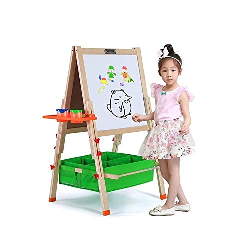 ZEL Infantil Caballete Plegable De Madera Arte Base con Pizarra Pizarra Y Almacenamiento Caja O Cartón 11.22