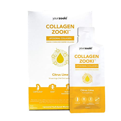 Marine Liquid Collagen Sachets - Liposomal Delivery - Hydrolysed Marine Collagen Peptides - Support Skin, Hair, Nails, Joints & Muscles - Collagen Zooki by YourZooki