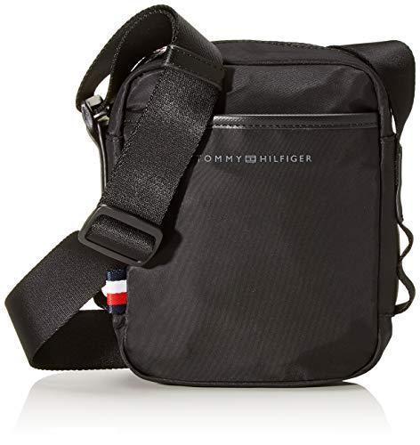 Tommy Hilfiger Herren Sport Nylon Mini Reporter Schultertasche, Schwarz (Black), 6.5x20x16.5 cm