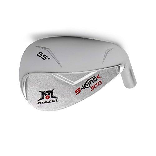 MAZEL Golf Sand Wedge | Herren Golf SW,Only Head, Silber 55 Grad