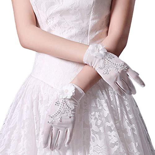 Gants de mariée mariage robes de soirée dentelle gants courts B17