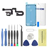 OKBICHI Cámara frontal para iPhone 8 Plus (todos los transportistas) módulo de cámara frontal sensor de proximidad micrófono Flex cable reemplazo - herramientas de reparación con protector de pantalla