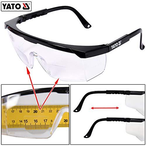 Profi Arbeitsschutzbrille mit Sehstärke Schutzbrille Laborbrille mit Lesehilfe (+2,0 Dioptrie)