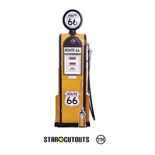 Star Cutouts Ltd SC1398 Route 66 - Supporto per pompa a gas in cartone, perfetto per feste, regali ed eventi, altezza 194 cm, con sagoma per tavolo, multicolore