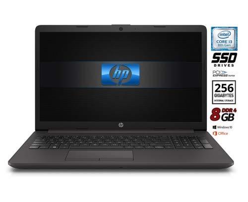 HP 250 G7 Notebook PC, Cpu Intel Core i3 de 8 gen. hasta 3,4 GHz, pantalla 15.6 HD LED, SSd Nvme de 256 GB, 8 GB RAM, Bt, WiFi, Hdmi, Win10 Pro 64 y Office 2019, listo para usar, garantía de Italia