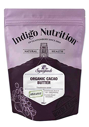 Indigo Herbs Burro di Cacao Biologico 500g