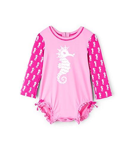 Hatley Baby-Mädchen Mini Rashguard Swimsuit Badeanzug, Weiß (Underwater Kingdom), 68