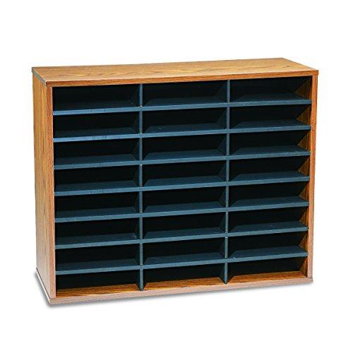 Fellowes 24-Compartment Literature Organizer, Letter Size, Medium Oak (25043)