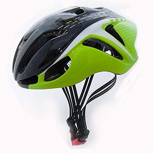 ZRDSZWZ Reliable Bike Helmet, Safety Protection Cycle Helmet Comfortable And Lightweight, Mountain Road Bike Helmet Suitable for Adult Men And Women, 56~62Cm,Blackgreen ( Color : Blackgreen )