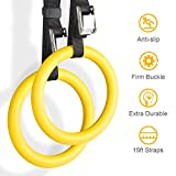 YISSVIC Professional Gymnastic Rings Bodyweight Workout and Strength Training Olympic Non-Slip Rings...