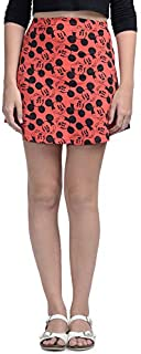 Free Authority Mickey & Friends Red Women Skirt