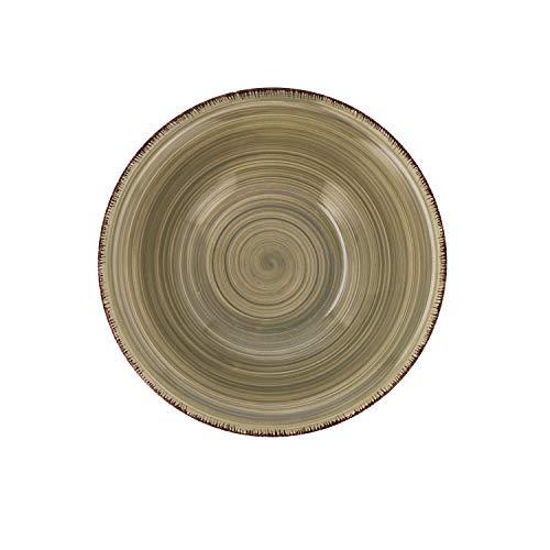 Quid Set 6 Cuencos para Sopa de cerámica gres | Platos hondos Gris 18 cm, Natura, Estandar