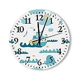 Orologio da parete silenzioso per bambini, stile vintage, non ticchettio, per ragazze, ragazzi, 45 cm, in...