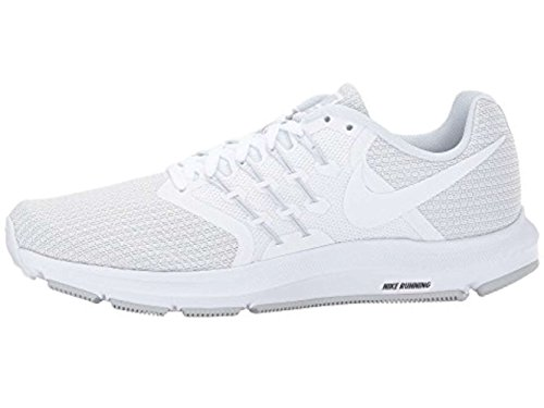 Nike Womens Run Swift Low Top Lace Up, White/White-Pure Platinum, Size 8.5