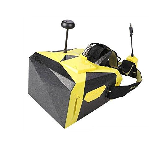 Qimmiq DQG0275 - Máscara para dron Racer, Color Negro y Amarillo