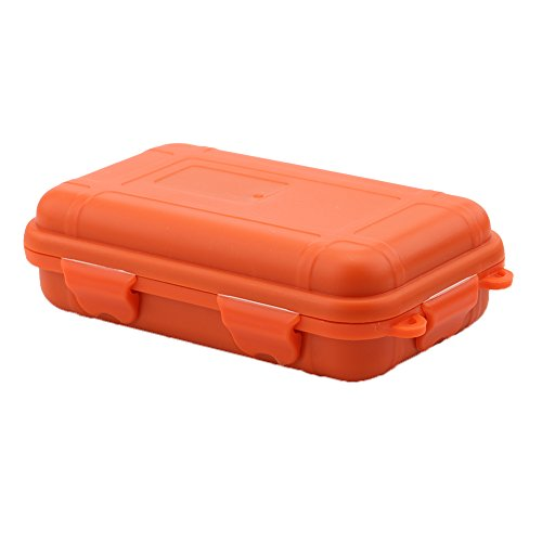 VGEBY Al aire libre a prueba de golpes caja de plástico caja de almacenamiento impermeable supervivencia de la herramienta envase de la caja del caso duro lleva para Pequeña Naranja