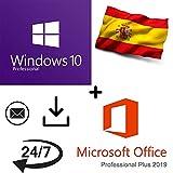 Oferta combinada - Windows 10 Pro + Office 2019 Professional Plus Key - 32/64 Bit - 100% activable online - Entrega 1-2 horas por correo electrónico - Envío garantizado 24/7 + festivos