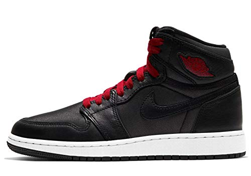 Air Jordan 1 Retro High OG Sneaker (Black/Gymred-Black White, Numeric_38)