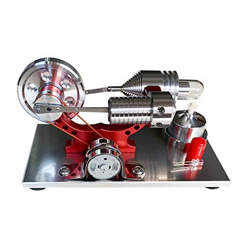 PHYNEDI Stirlingmotor Bausatz, Modell Stirlingmotor mit Generator Stirling Engine DIY Modell Kit Physik Spielzeug für Kinder und Erwachsene