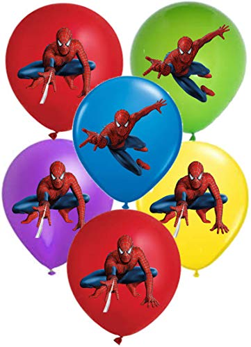"""SPIDERMAN 12"""" Party Balloons 25 pcs, assorted colors 2018 New Design"""