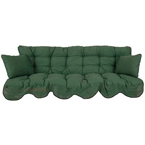 PATIO Auflagen Set Minorca für Hollywoodschaukel Polsterauflage Sitzkissen Rückenkissen Seitenkissen Gesteppt D001-32PB 184 cm
