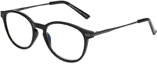 popular Foster lowest Grant Mckay Multifocus sale Round Reading Glasses, Black +1.25 sale