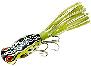 Arbogast Hula Popper Fishing Lure-2 in-Cricket Frog - Chartreuse/White Skirt