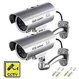 Cambra Falsa, *Dummy Càmera de Seguretat Vigilància Falsa Sense fil Impermeable Sistema de Vigilància ANAR LED *Parpadeante *Fake Cambra Simulada CCTV (*2Pcs) (2 *Packs)
