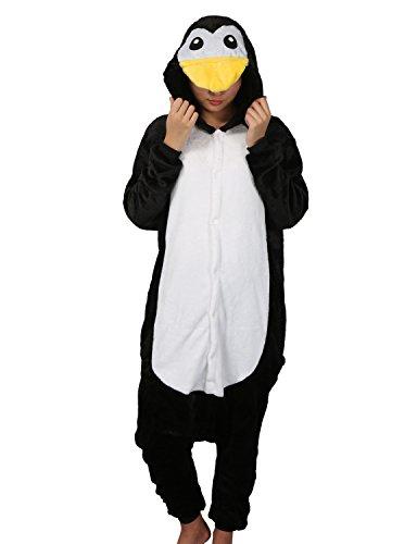 Pyjama, Unisex, für Erwachsene, Kigurumi Gr. L, Pinguin