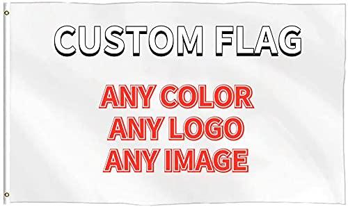 Custom Flagge, 3x5 FT Einseitig Benutzerdefinierte Flagge Gartenbanner, Benutzerdefinierter Druck Ihr Design/Logo/Bild/Wörter, für Hausgarten Rasen Draussen Dekor